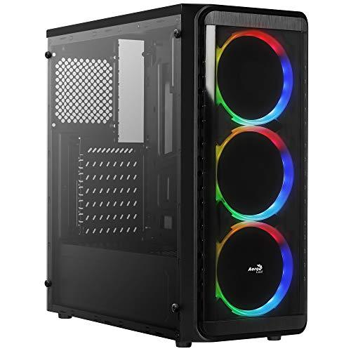 Aerocool SI5200RGB - PC ATX-Box, Seitenwand, 3 RGB-Lüfter 12cm -