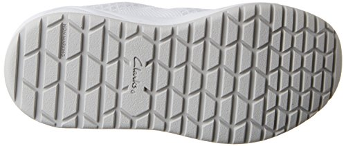 Clarks Frisby Fun Inf, Sneakers basses fille Argent (Silver)