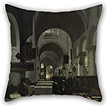 beautifulseason 18 X 18 Inches/45 by 45 Cm Oil Painting Emanuel De Witte - Interior of A Church Cushion Cases Two Sides Ornament and Gift to Husband Birthday Dance Room Kids Room Son Bar