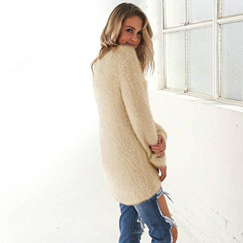 Bonjouree Pull Femme Chandails Hiver Manches Longues Sweaters Blouse Kaki