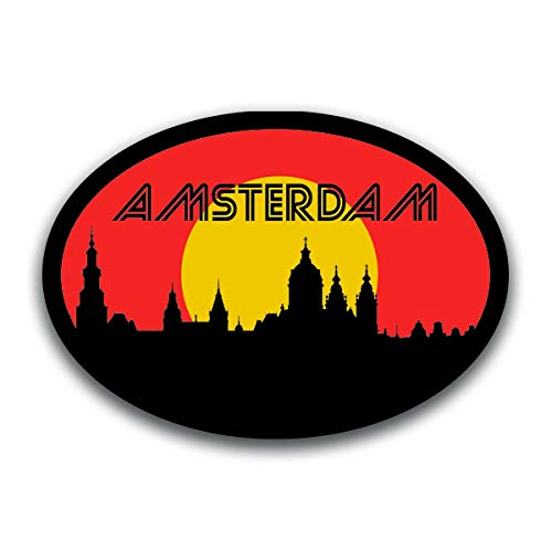 Amsterdam Netherlands Skyline Vinyl Decal Sticker | Cars Trucks Vans SUVs Windows Walls Cups Laptops | Full Color Printed | 5.5 Inch | KCD2584 -