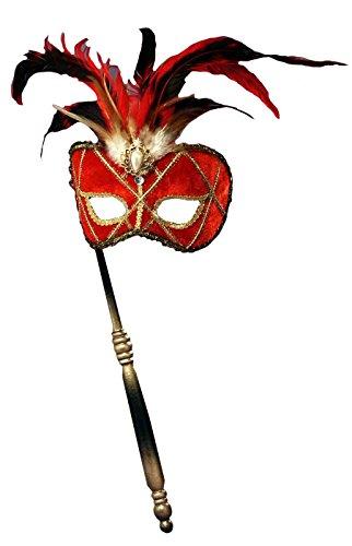 Forum Neuheiten 125434 Red Venezianische Maske mit Stab