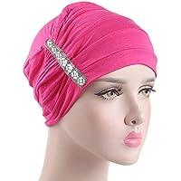 Gorras Mujer Invierno ❄ Sonnena Sombrero elástico de Mujer Hijab Sombrero de Cancer Turbante Envolver la Cabeza Cabeza de la pérdida de Pelo Bufanda