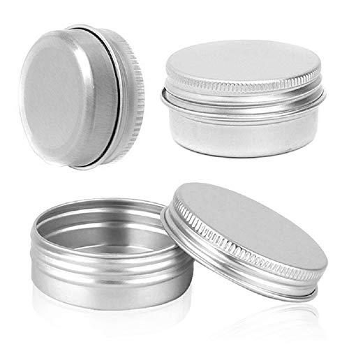 Bingpong 20 stücke 5ml-250ml Muti-größe Silber Leere Aluminium Metalldose Nachfüllbare Behälter für Kosmetische Kunsthandwerk Kerze Salbe Schmuck Kleine Probe Vorratsgläser (100ml)
