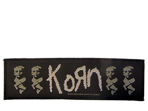 Korn Logo Stripe Aufnäher Korn Band Patch Gewebt 1997 Original !