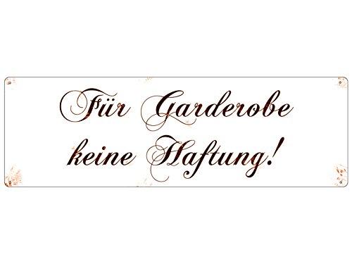 METALLSCHILD Shabby Vintage Blechschild FÜR GARDEROBE KEINE HAFTUNG CHOPIN