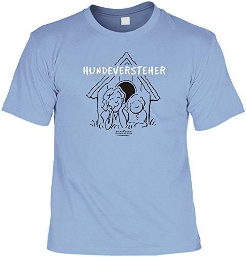 Motiv-Shirt/Spaß-Shirt Rubrik lustige Sprüche: Hunderversteher geniale Geschenkidee für Hundebesitzer Hellblau