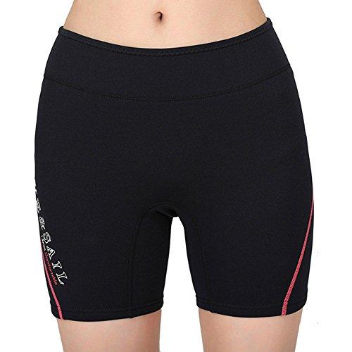 Un punto caldo spessa 1,5mm in neoprene immersioni pantaloncini pantaloni pantaloncini Muta Snorkeling Inverno Nuoto women's red