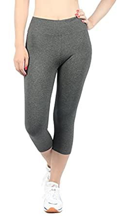 Pantalons Femme Sport gris leggings fille strech Jogging YOGA FR Taille S