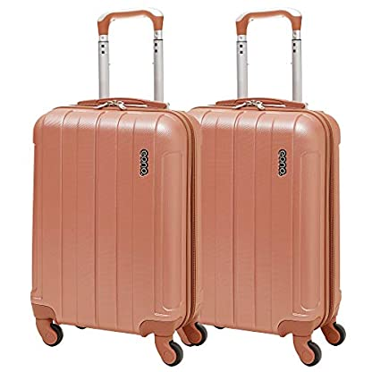 EONO-Essentials-Leichter-55cm-ABS-Hartschalenkoffer-Reisetrolley-Handgepck-Koffer-mit-4-Rdern