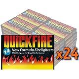 24 Packs of Quickfire Firelighters Bulk Pack Hotspots
