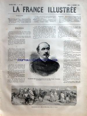 FRANCE ILLUSTREE (LA) [No 363] du 12/11/1881