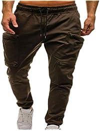c1de397bd459 Pantaloni Sportivi da Uomo, ABCone Pantaloni Sportivi da Uomo Harem Pantaloni  da Jogging Uomo Sportivi Fitness Cotone Slim Fit Allenamento…