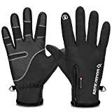 Touch screen warm gloves,Cycling Gloves Winter Waterproof Windproof Gloves Outdoor Sports Gloves For