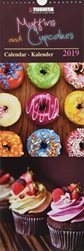 Muffins & Cupcakes 2019: Kalender 2019 (Slimeline 17x50cm)