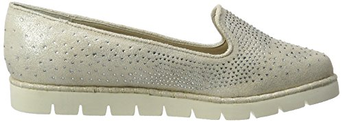 XTI - Ice Metallic Textile Ladies Shoes ., Mocassini Donna Grau (Ice)