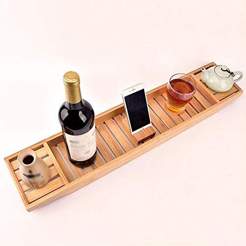 AYHa Bad Tabletts, einfache Badewanne Frame Anti-Rutsch-Bambus Badewanne Tablett Multifunktions-Badezimmer Caddy-Tisch (natürliche Bambusfarbe) - Tisch Frame