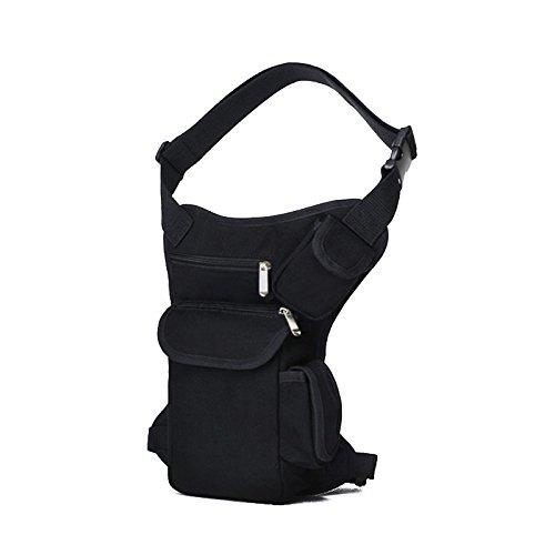 GOUQIN Outdoor Rucksack Klassische Mode Outdoor Freizeitaktivitäten Canvas Und Paket, Paket Taschen Auf Der Verpackung Schwarz