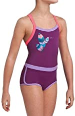 NABAIJI DEBO LIGHT GIRLS' ONE-PIECE LEGSUIT SWIMMING COSTUME - PURPLE