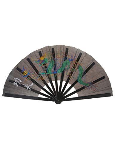ATLD Fächer Handfächer Chinesischer Kung Fu Leistungs-Handfächer-Drache-Faltventilator-Tanzen-Bevorzugungs-Geschenk (Kostüme Drachen Cool)