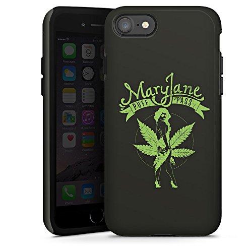 Apple iPhone X Silikon Hülle Case Schutzhülle MaryJane Marihuana Hanf Tough Case glänzend
