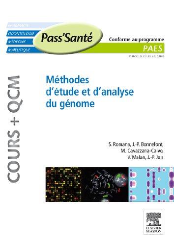 Méthodes d étude et d analyse du génome (Cours + QCM): COURS+QCM
