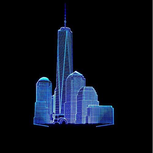 Lampe Führte Weihnachtsgeschenk 3D Nightlight Visuelle Party Decor Usb Farbe Tischlampe Schlaf Beleuchtung ()