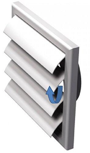 Et dans divers Grille de ventilateur de mural et rabats avec fonction de fermeture Par gravedadpara 10,16 cm 100 mm Boîtier ronde pour voies marrons