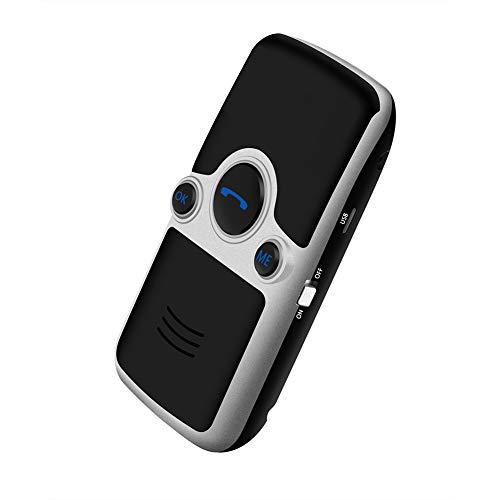 YUnnuopromi Solar Strom drahtlos Bluetooth 4,0 Handsfree Auto-Kit Speakerphone Lautsprecher Schwarz (Drahtloses Konferenz-lautsprecher)