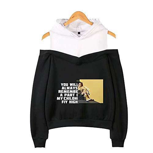 Cameron-damen T-shirt (Qiujiam Cameron Boyce Schulterfreies Hoodies Sweatshirt Damenmode Sexy Schulterfreie Hüft-Sweatshirts Lose Pullover Streetwear Hoodies - XS-XXL)