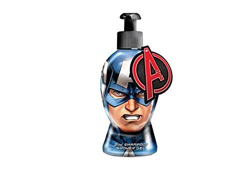 Avengers - Marvel Captain America 2in1 Shampoo/Duschgel, 1er Pack (1 x 335 ml)
