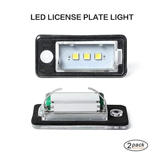 LED-Kennzeichenleuchte Gempro 2 x 3 SMD Nummernschildbeleuchtung mit eingebautem CAN-Bus und fehlerfreier wasserdichter Für A3 S3 8P A4 S4 RS4 B6 8E 8H A5 8F A6 C6 4F A8 S8 4H Q7 4L 4M - 4h 4 Licht