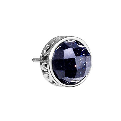 mens-silver-jewelry-earrings-korean-fashion-blue-sandstone-earring-star-stud-earrings-jewelry-b