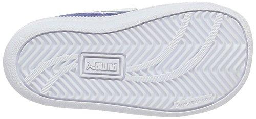 Puma Unisex-Kinder Smash Fun L V Inf Low-Top Weiß (puma white-true blue 12)