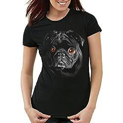 style3 Bronx Pug Camiseta para mujer T-Shirt carlino,