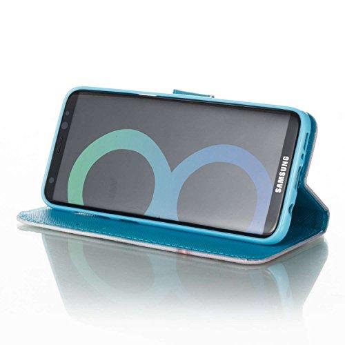 Coque Galaxy S8 Plus en Cuir,Housse de Protection pour Samsung Galaxy S8 Plus,Ekakashop Jolie Fantaisie Campanula Dessin Ultra Slim-fit Folio Bookstyle Rabat Shell Couvercle Magnétique à Fermeture Por Fantaisie Campanula