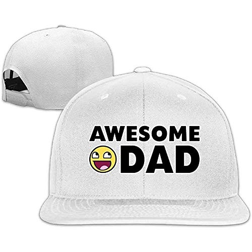 Preisvergleich Produktbild Liz Colclough Awesome Dad Snapback Unisex Adjustable Flat Bill Visor Dad Hat