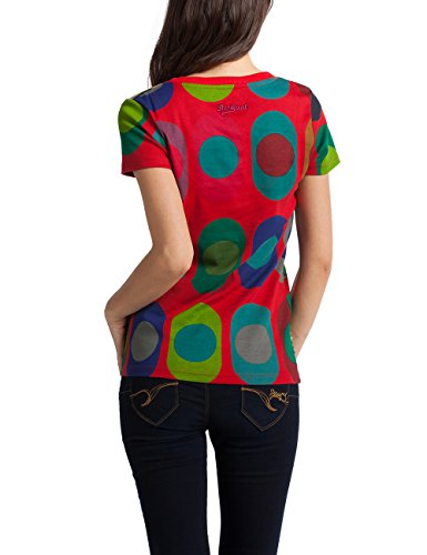 Desigual Damen T-Shirt Sandy Rot (Carmin 3000)