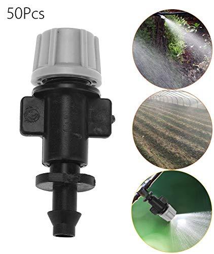 Smandy 50 pz/Set ugelli di nebulizzazione atomizzatore Testa per Patio Giardino Serra agricola irrigazione a Goccia Sistema di Raffreddamento all'aperto