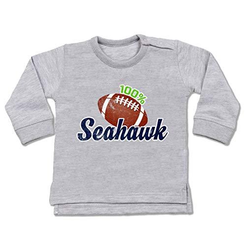Sport Baby - 100% Seahawk - 18-24 Monate - Grau meliert - BZ31 - Baby Pullover - 54 In Jeans