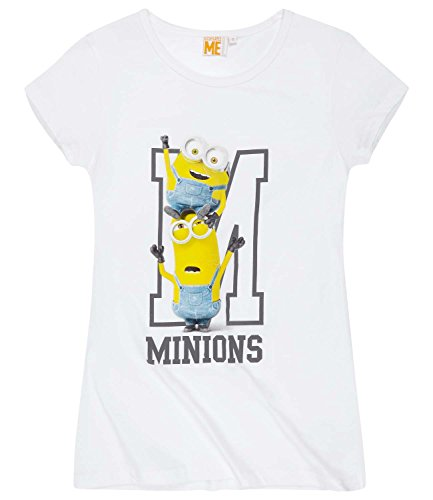 Minions Despicable Me Donne Maglietta manica corta 2016 Collection - bianco Bianco