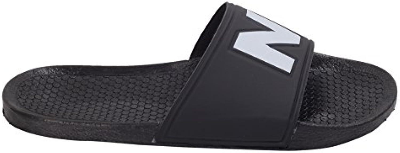 NUMERO00 Herren 1233BL Schwarz PVC Sandalen