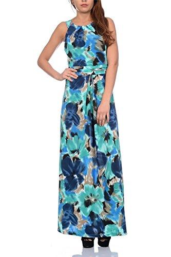 Pistache, Mesdames Maxi imprimé Floral Dress Turquoise Floral