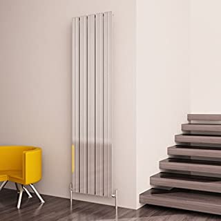Carisa Monza 470mm(w) x 1800mm(h) Polished Anodised Vertical Aluminium Radiator - (5396 BTUs)