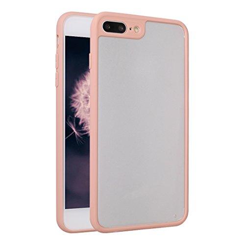 iPhone 8 Plus / 7 Plus Bumper Case, iPhone 8 Plus Hülle Transparent Silikon, iPhone 7 Plus Hülle Durchsichtig Silikon, Moon mood® Schutzhülle für Apple iPhone 8 Plus / iPhone 7 Plus 5.5 Zoll Ultra Dün Rosa