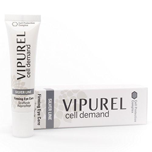 VIPUREL Anti-Aging Augencreme mit Hyaluron-Säure I Für jeden Hauttyp geeignet I Ohne Parabene I Hergestellt in Deutschland nach pharmazeutischen Standards I 100% Geld-Zurück-Garantie!