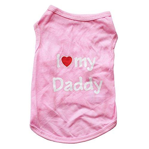 Huhuswwbin Ärmellose Weste für Kleine Hunde und Welpen, mit Aufschrift I Love My Daddy Alter Hoody