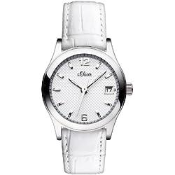 s.Oliver - SO-2870-LQ - Montre Femme - Quartz Analogique - Bracelet Cuir Blanc