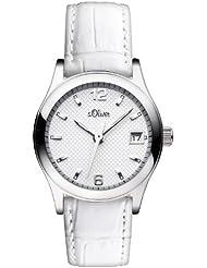 s.Oliver Damen-Armbanduhr XS Analog Quarz Leder SO-2870-LQ
