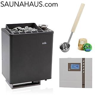 Saunaofen EOS Bi-O-Tec incl. Econ H4 Saunasteuergeraet Bio EOS, inkl. Feuchterfüller EOS F2 und exklusive Edelstahl-Saunakelle von ARTVION (9.0 kW)